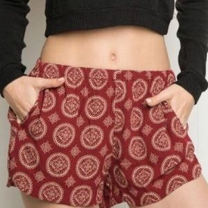 Brandy Melville Red High Waisted Shorts Stretchy